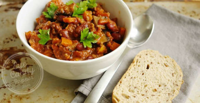 45 min healthy chili (gluten-free, vegan option)