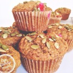 Pumpkin, apple and cranberry muffins (low-gluten, low-sugar, dairy-free, with gluten-free and vegan option) eyecandypopper.com