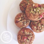 Pumpkin, apple and cranberry muffins (low-gluten, low-sugar, dairy-free, soy-free, with gluten-free and vegan option) eyecandypopper.com
