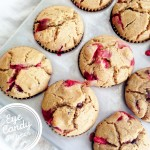 vegan gluten-free Cranberry, peanut butter and chocolate chip muffins