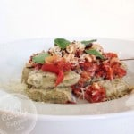 sweet potato and nettle gnocchi with simple tomato sauce
