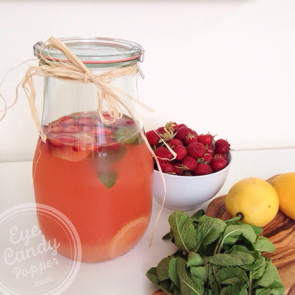 Perfect summer drink: Strawberry-mint lemonade (vegan, no refined ...