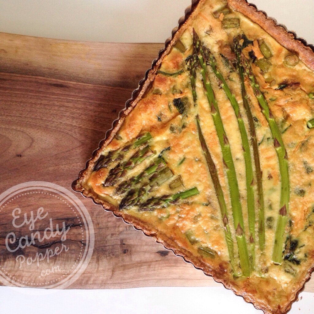 Asparagus and spinach quiche with spelt crust (dairy-free option ...