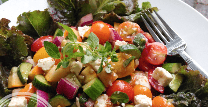 Meatless Monday: Summer Greek Salad (vegetarian, Yum!)