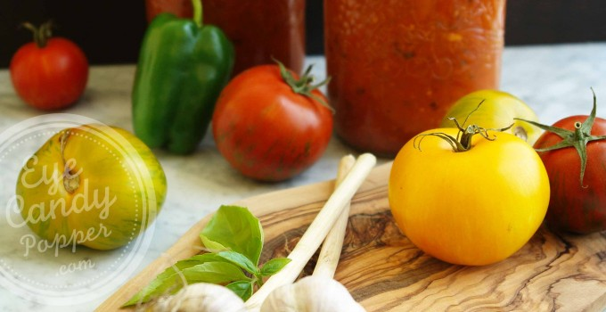 Weekend project: Oven-Roasted Heirloom Spaghetti Sauce and How To Can It (vegan, gluten-free)