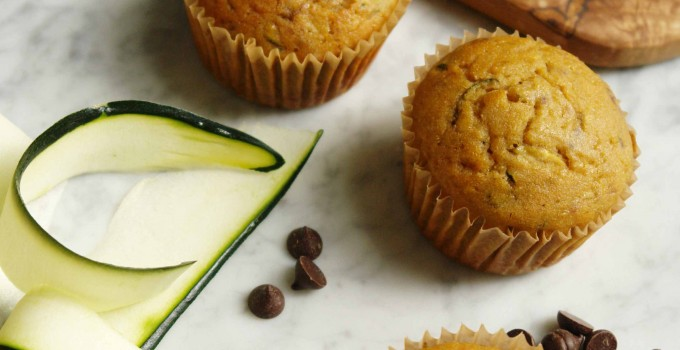 Wheatless Wednesday: Zucchini chocolate chip muffins (gluten-free, dairy-free, paleo-friendly)