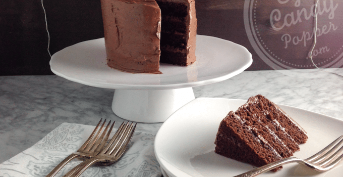 Easy tips: Olive oil Devil's Food Cake and how to ice a cake (multigrain, dairy-free)