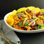Meatless Monday: Fall veggie salad with chickpea croutons and lemon-mustard dressing (vegan, gluten-free, paleo)