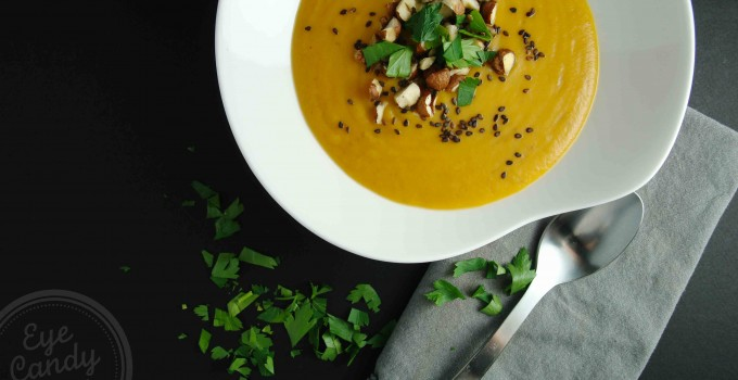 Meatless Monday: Thai Sweet Potato and Red Lentil Soup (vegan, paleo, gluten-free)