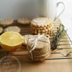 Lemon Thyme Shortbread (vegan, low-gluten or gluten-free, paleo)