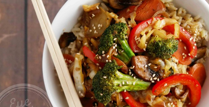 Meatless Monday: 30 min healthy Chinese vegetable stir-fry! (vegan, soy-free option, gluten-free,paleo)