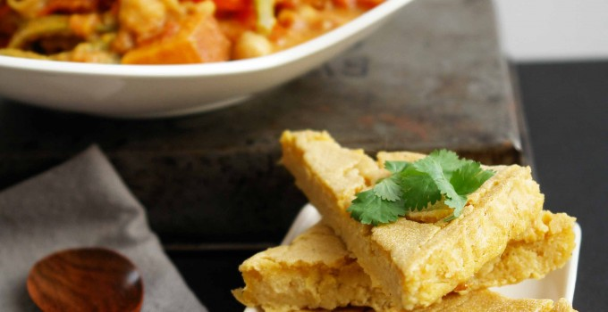 Wheatless Wednesday: Classic Italian Chickpea Flatbread (vegan, paleo, gluten-free)