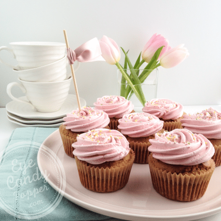 Truly healthy vanilla raspberry cupcakes without toxic dye (dairy-free, gluten-free, low sugar, real food)