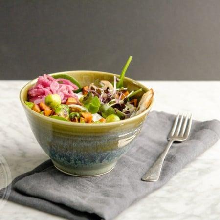 Healthy sweet potato savoury breakfast bowl