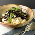 Cauliflower pasta sauce and balsamic mushrooms (naturally gluten-free, vegetarian or vegan) + announcement
