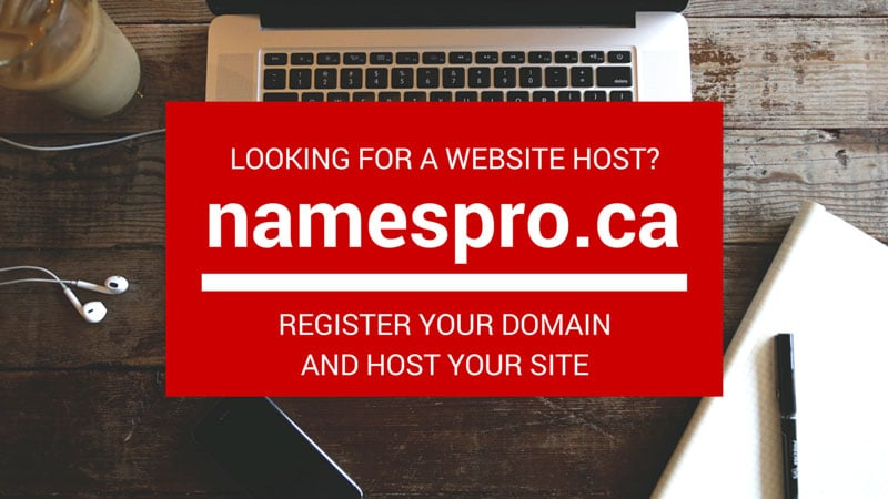 namespro.ca advertisement