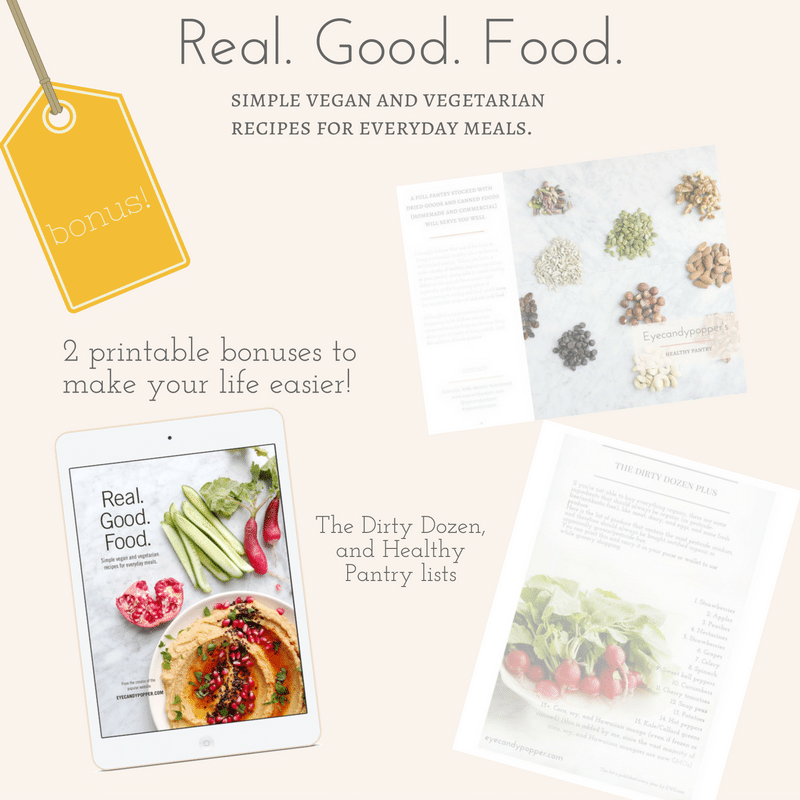 Real. Good. Food. eCookbook promotion bonuses graphic