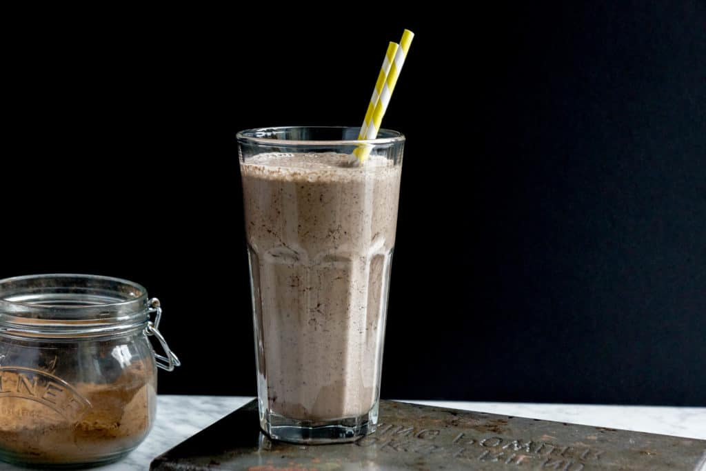 Chocolate Blueberry Smoothie for Two