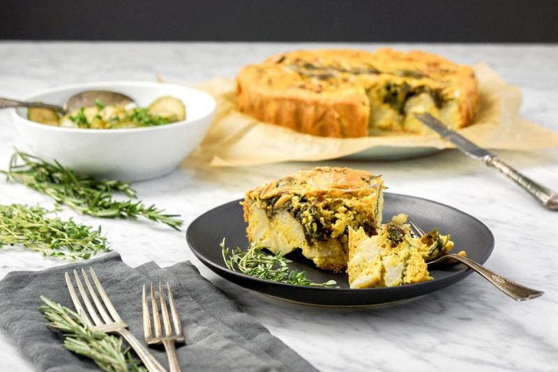Savory Cauliflower Cake | Gluten-Free | Dairy-Free
