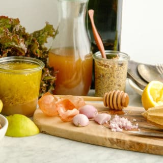 French shallot, raw honey and apple cider vinegar salad dressing