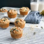 Multigrain Dairy-Free Banana Chocolate Chip Muffins
