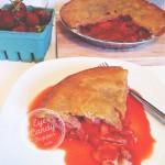 5 min Strawberry, Rhubarb and Apple Pie (sugar-free, low-gluten, soy-free, dairy-free)