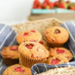 Strawberry Maple Muffins | Refined Sugar-Free | Dairy-Free | Vegan + GF Options