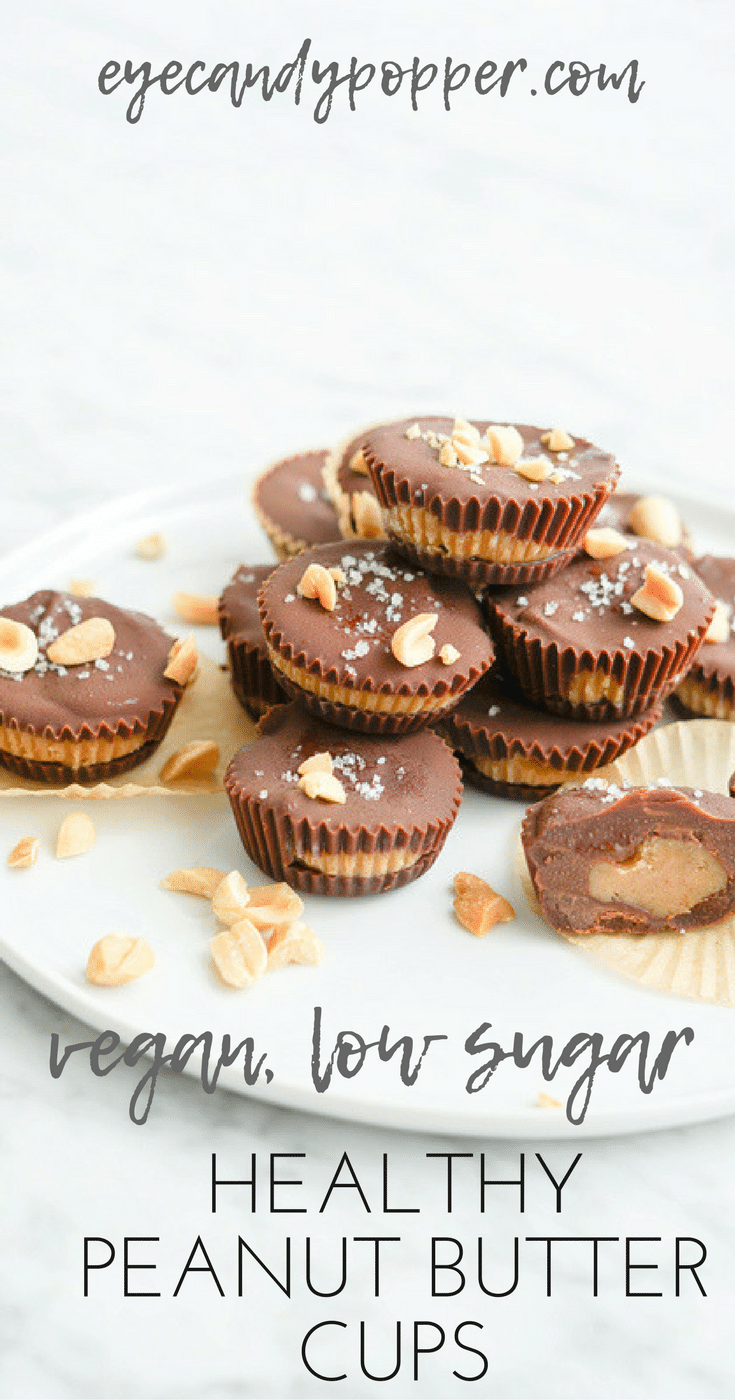 #Healthy Chocolate Peanut Butter Cups | #Vegan Refined Sugar-Free Soy-Free Recipe