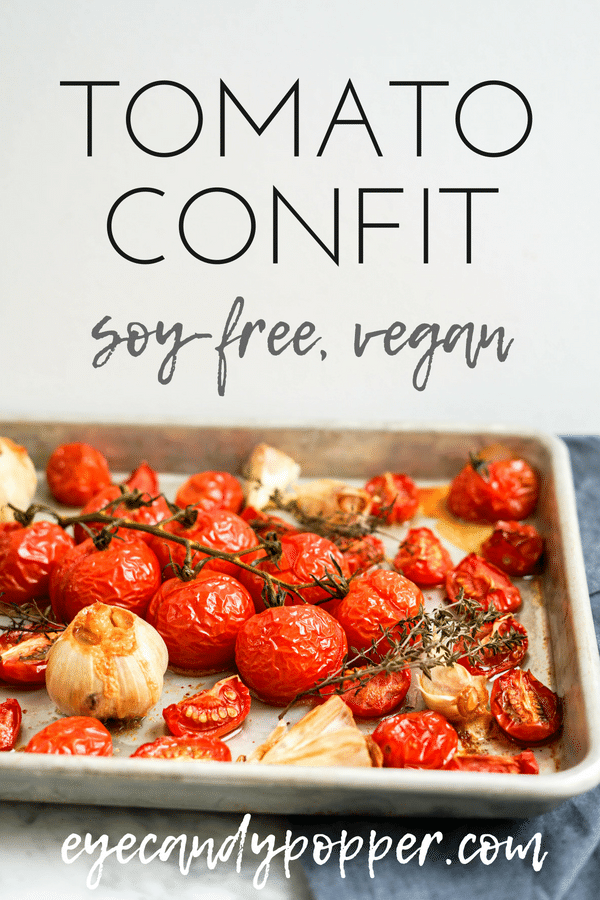 #Tomato and Garlic #Confit | #VeganRecipes #GlutenFree