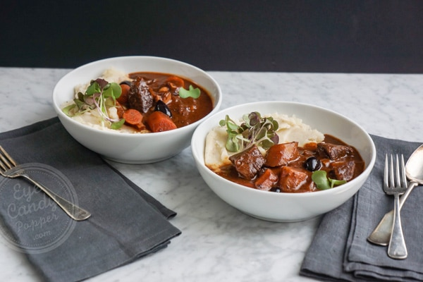 French stew: Grass-fed beef in wine sauce