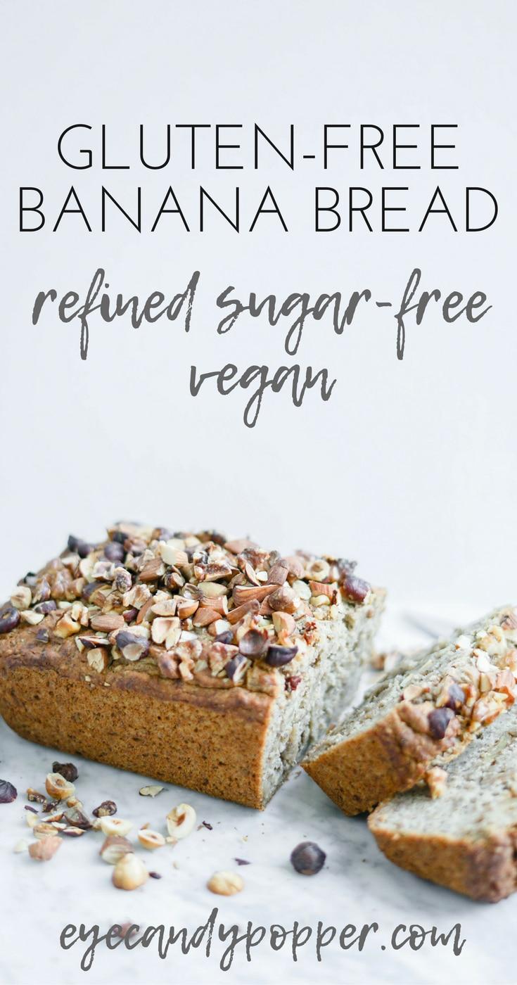 Gluten-Free Maple Banana Bread | #Vegan #glutenfree Refined Sugar-Free  #breakfast