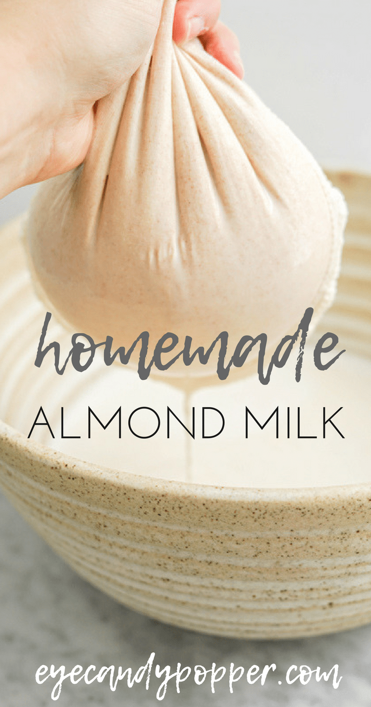 Homemade Almond Milk | No Additives, Vegan