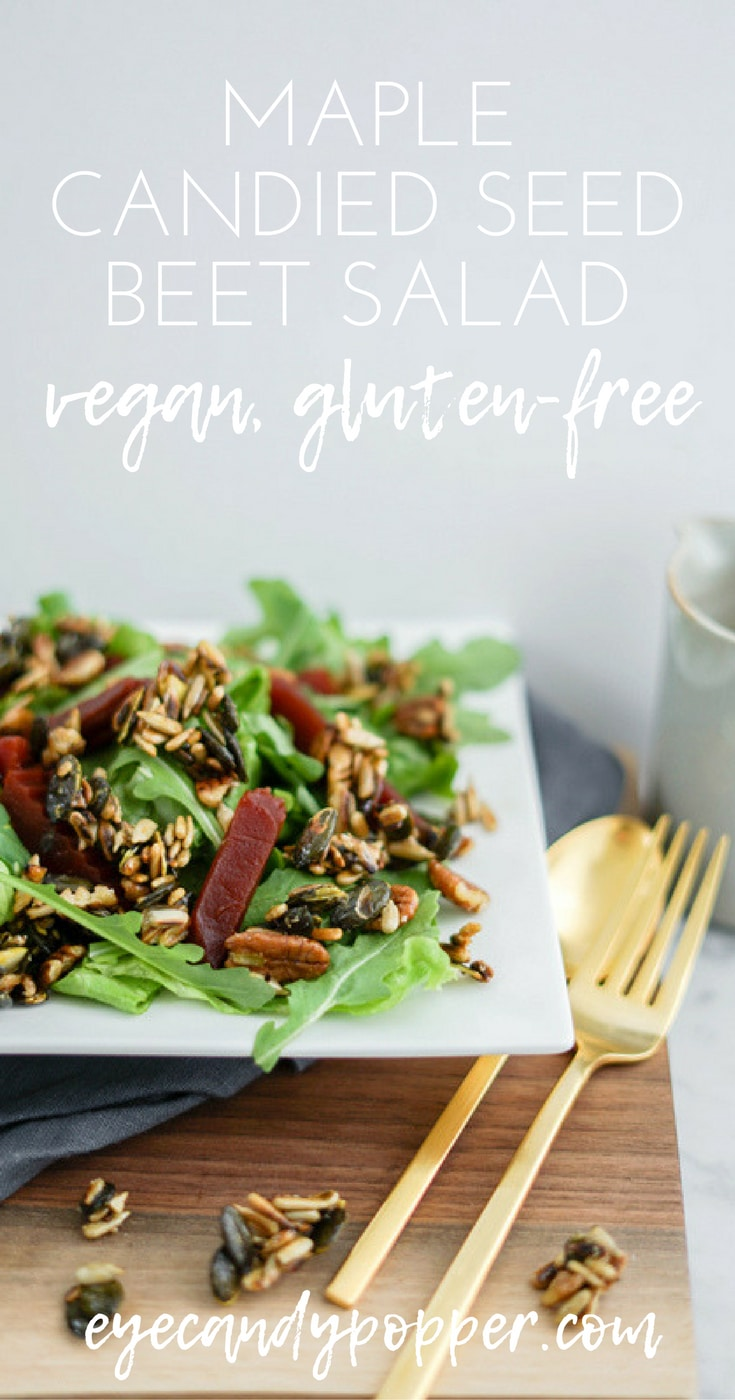 #Beet #Salad with Maple #Candied Seeds | #Vegan