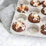 Double Chocolate Coconut Muffins | Gluten-Free, Vegan