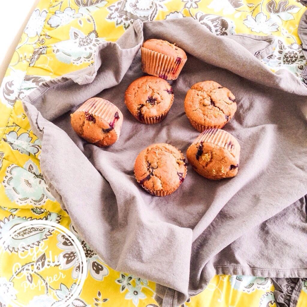 Healthy Blueberry Lemon Muffins   Low Sugar, Multigrain, Dairy-Free