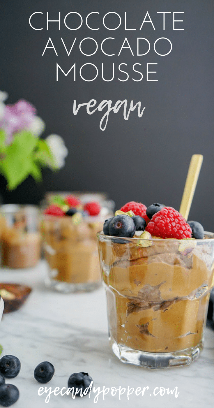 Healthy Avocado Chocolate Mousse | Vegan, Soy-Free, Refined Sugar-Free