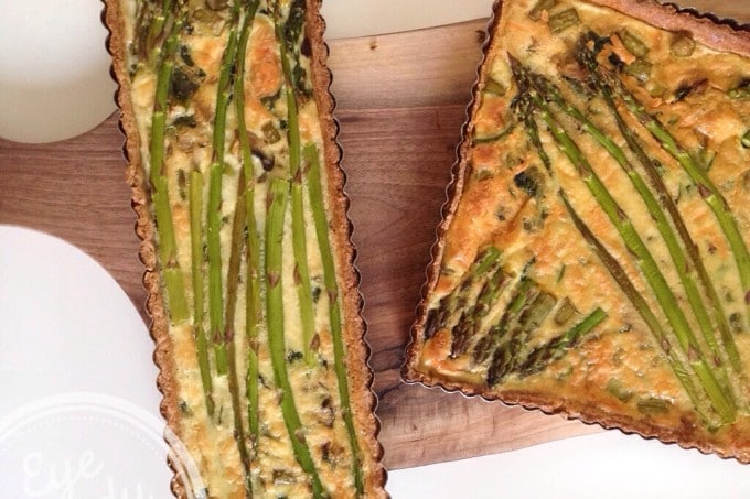 Asparagus and Spinach Quiche with Spelt Crust