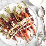 Maple Glazed Heirloom Carrots with Lemon Cashew Cream / Carottes glacées à l'érable et crème citron-cajou