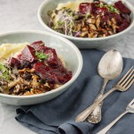 Vegan beet stew with celery root purée (GF)