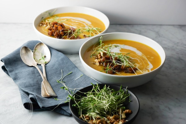 Cilantro Sprouts are the perfect garnish on this soup