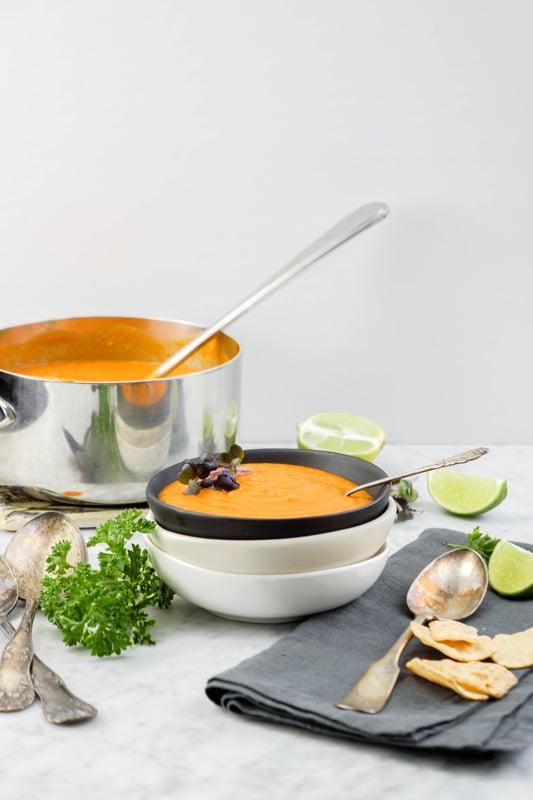 Sweet Potato Tomato Curry Soup