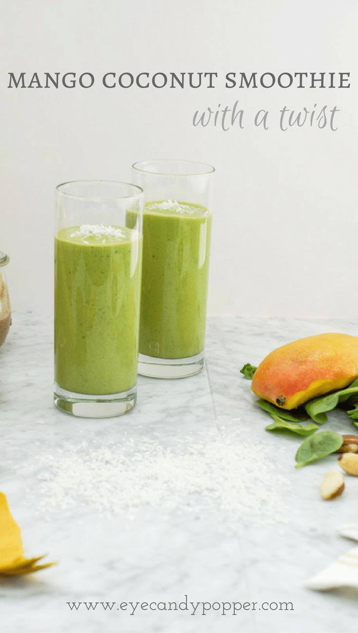 Dairy-Free Mango Coconut Smoothie With a Twist | healthy | vegan