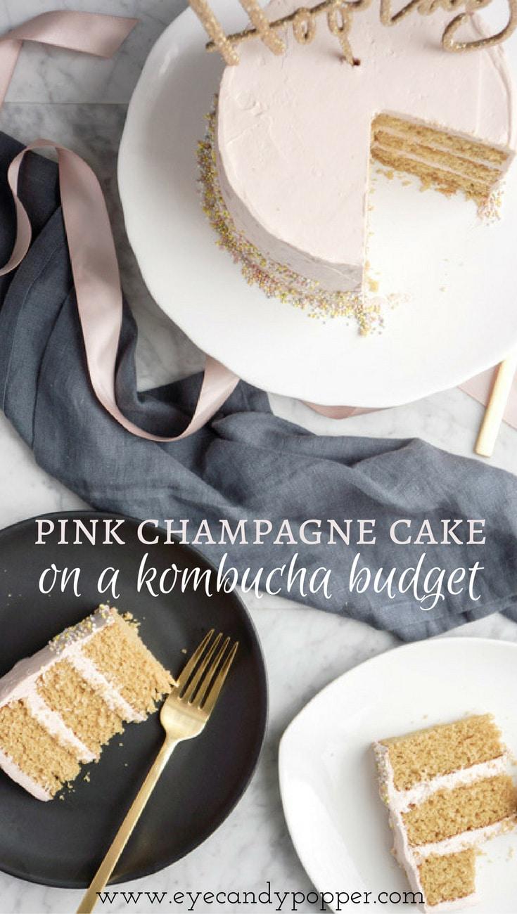 Healthy Pink Champagne Cake On a Kombucha Budget   Dairy-Free   Gluten-Free
