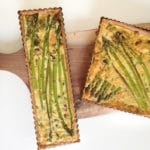 Asparagus and spinach quiche with spelt crust (dairy-free option)