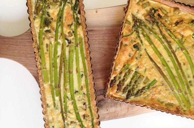 Asparagus Spinach Quiche Spelt Crust