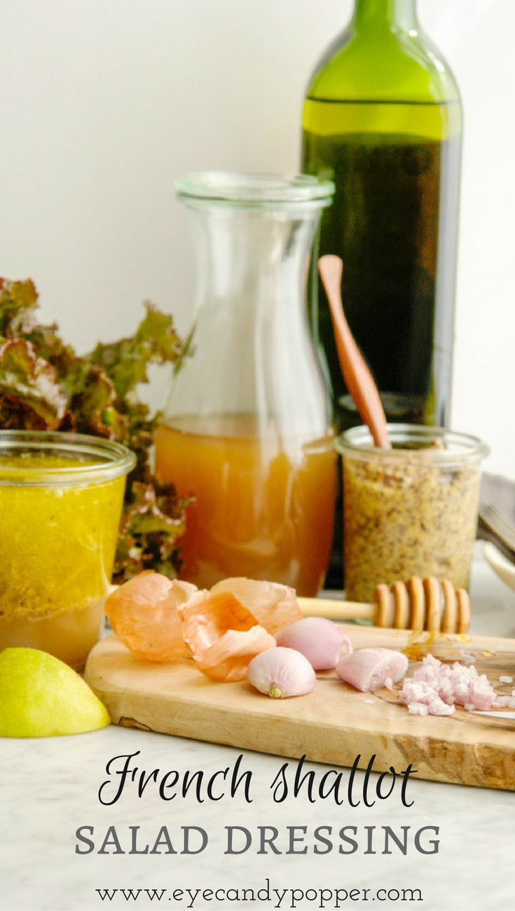 French shallot, raw honey and apple cider vinegar salad dressing (vegan option)