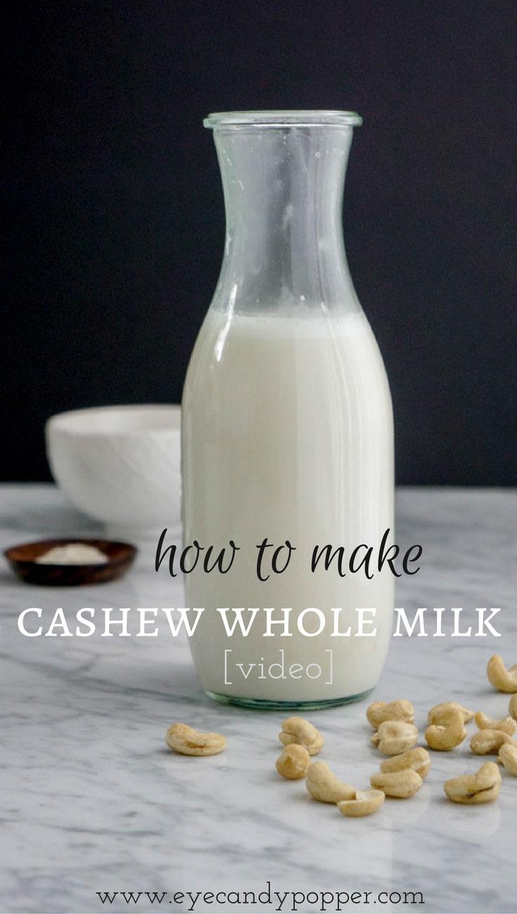 How to make cashew whole milk  | vegan, dairy-free, gluten-free, raw