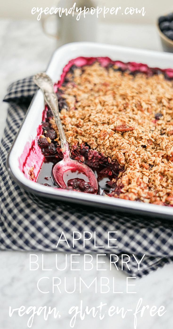 Vegan Apple Blueberry Crumble | Gluten-Free