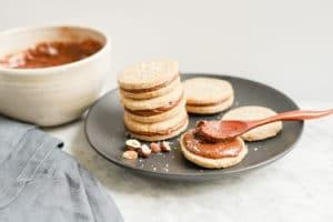 Gluten-Free Hazelnut Shortbread Cookies with Chocolate Filling | Vegan